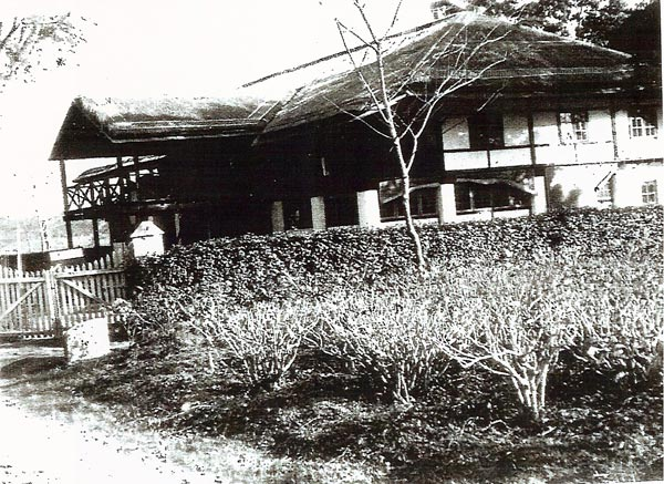 CNAC bungalow at Dinjan, India. Photo courtesy of CNAC Capt. Giff Bull
